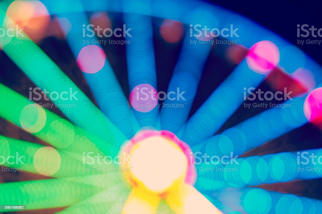 Ferris wheel blurred abstract background. stock photo