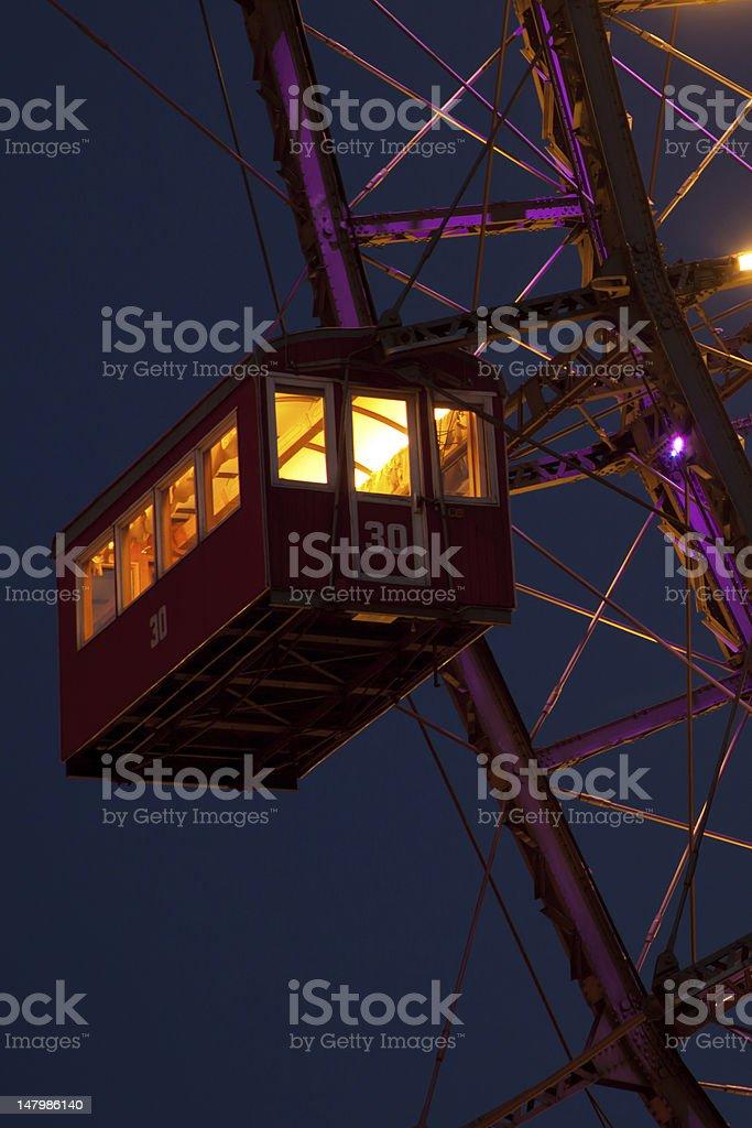Ferris wheel cabin royalty-free stock photo