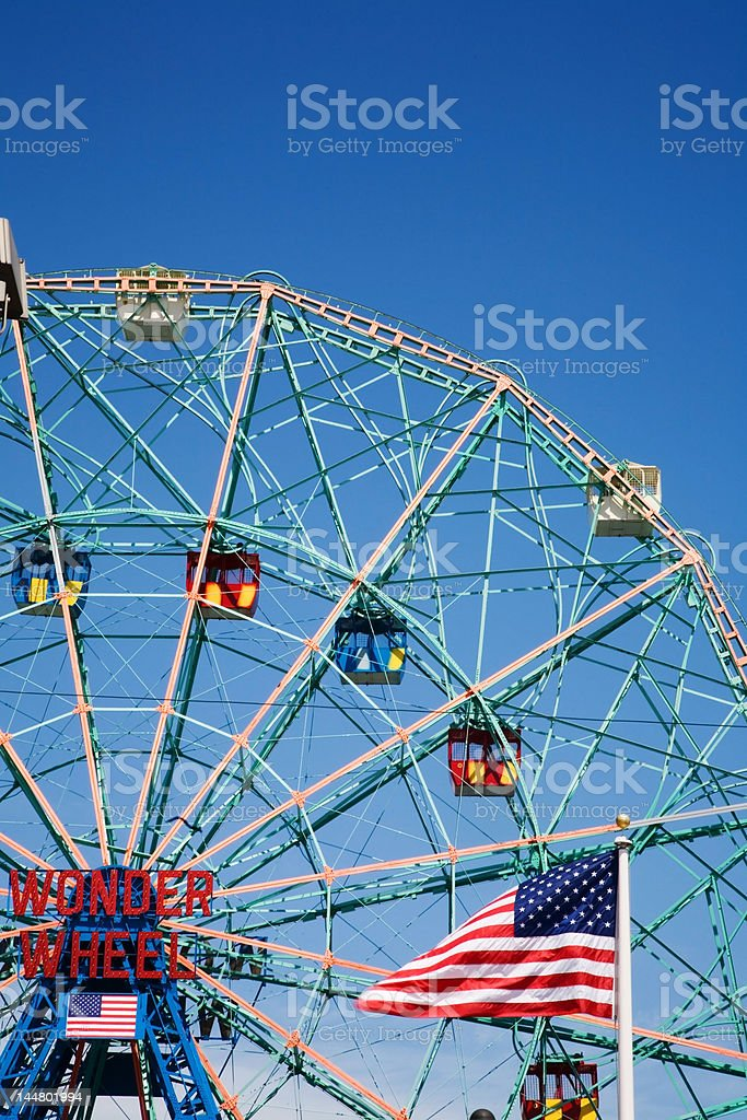Ferris wheel, Coney Island royalty-free stock photo