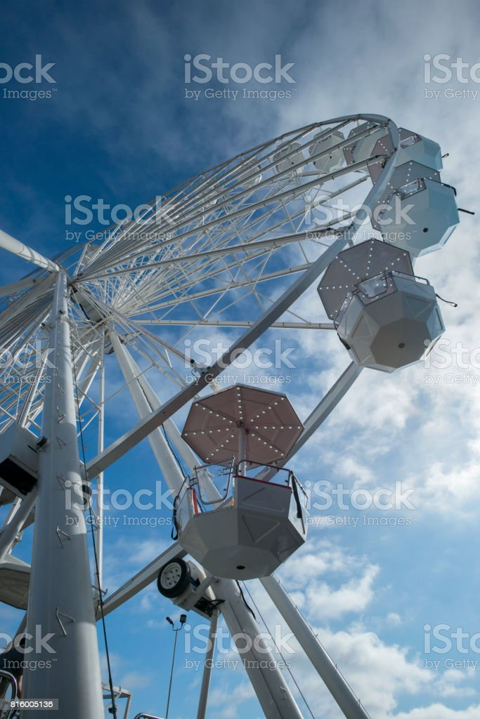 Ferris Wheel - Detail From Below stock photo