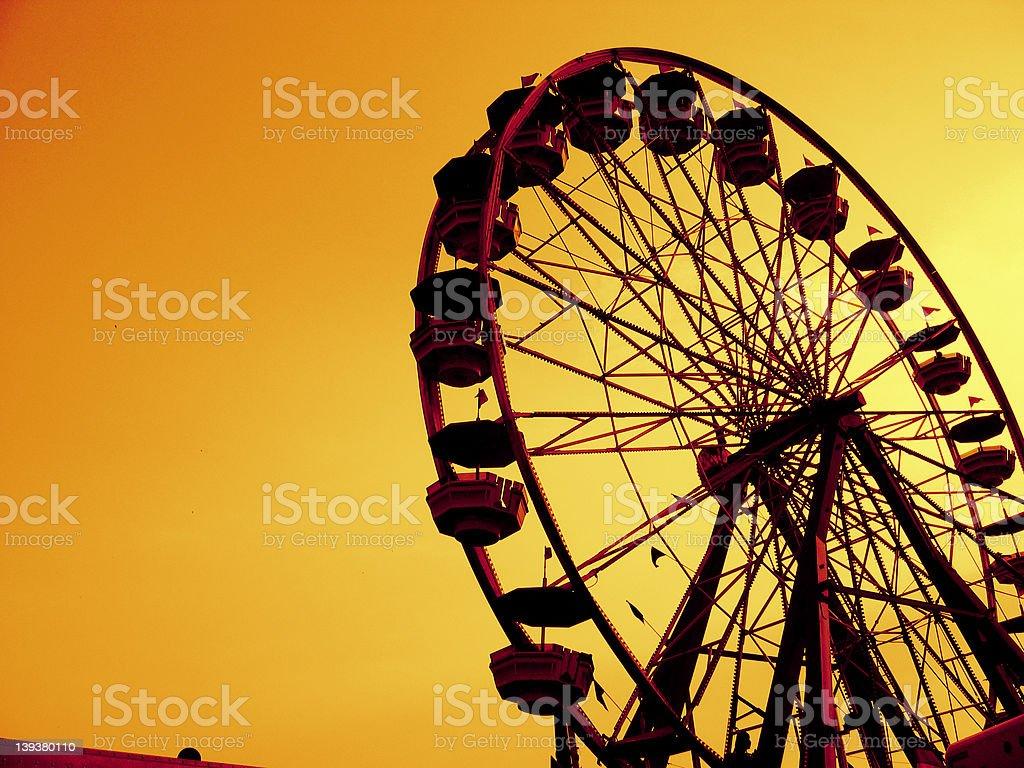 Ferris Wheel Duotone royalty-free stock photo