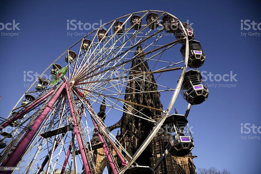 Ferris Wheel - Edinburgh stock photo