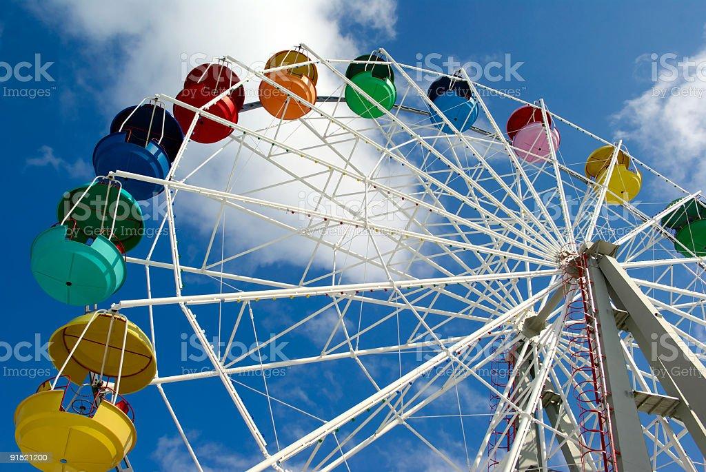 Ferris wheel equipment royalty-free stock photo