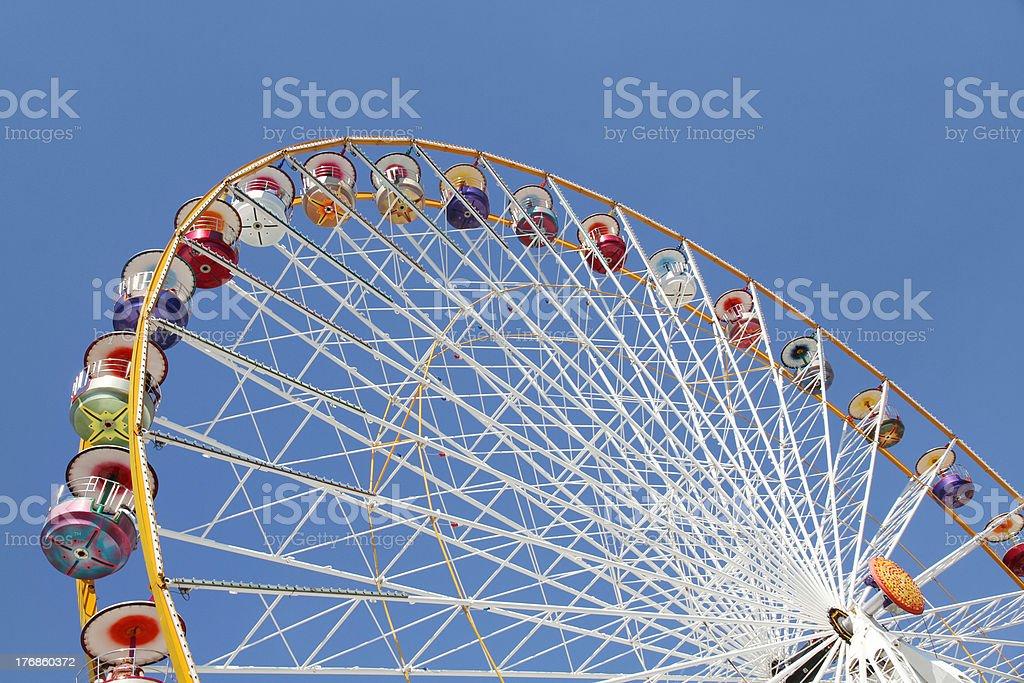 Ferris wheel in an amusement park royalty-free stock photo