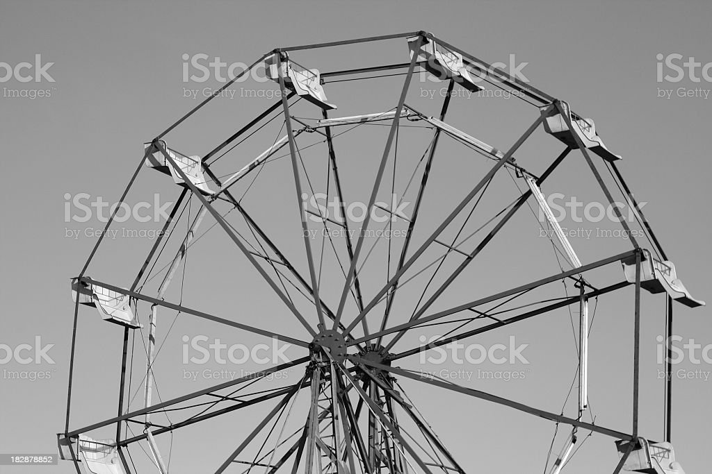 Ferris wheel in black and white stock photo