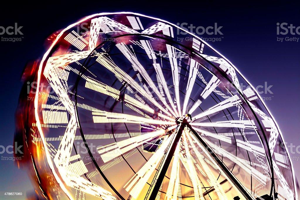 Ferris Wheel in Blurred Motion stock photo
