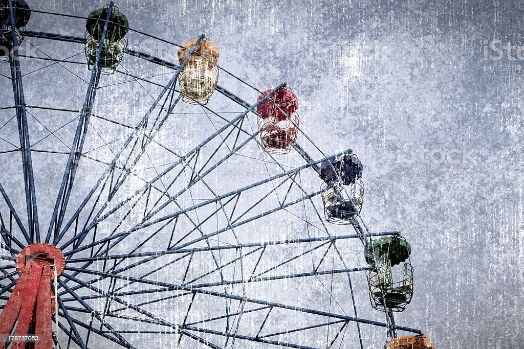 ferris wheel in graphic grunge style royalty-free stock photo