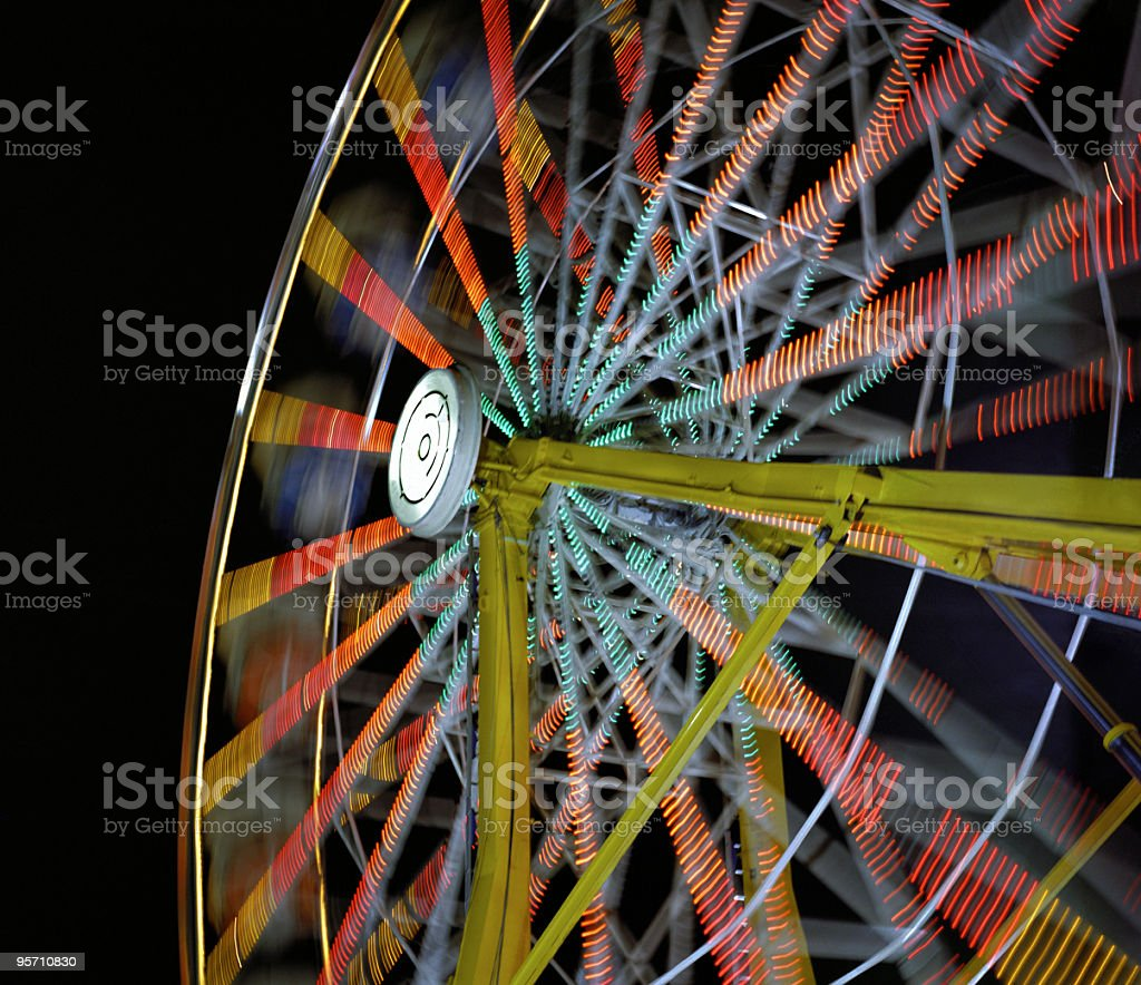 Ferris Wheel in Motion royalty-free stock photo