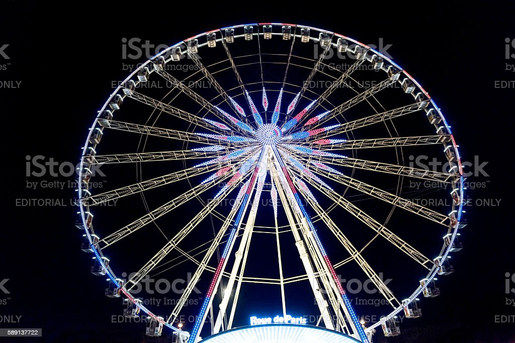 Ferris wheel in Paris, France stock photo