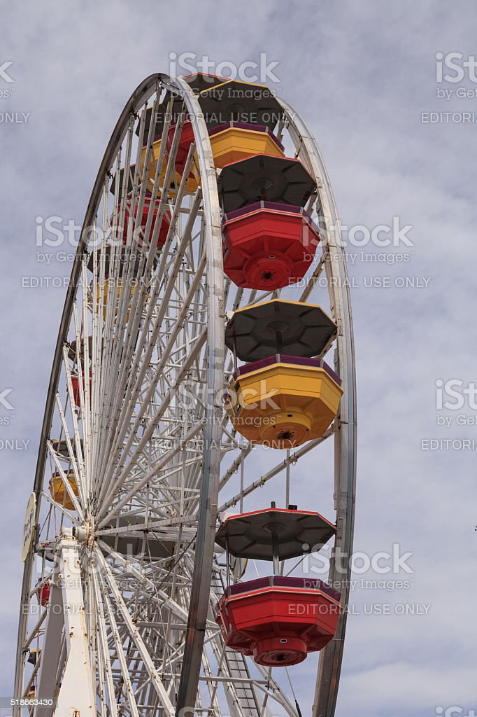 Ferris Wheel in Santa Monica stock photo