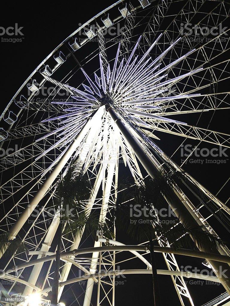Ferris wheel in the dark night royalty-free stock photo