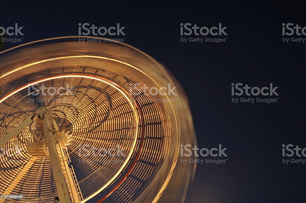 ferris wheel in the funfair royalty-free stock photo