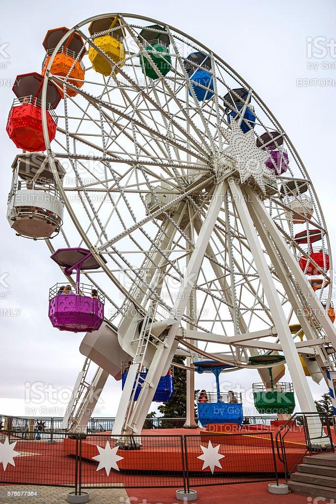 Ferris wheel in Tibidabo stock photo