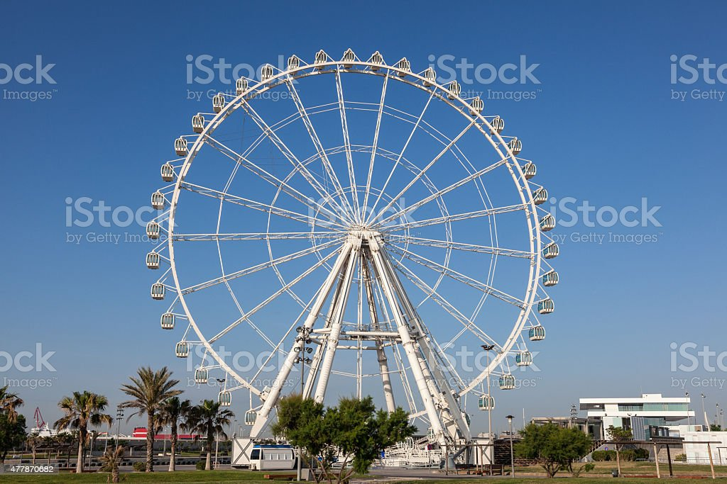 Ferris Wheel in Valencia stock photo