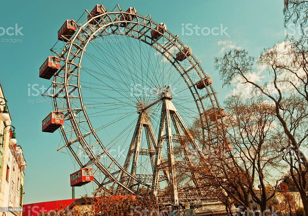 Ferris wheel in Vienna stock photo