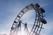 Ferris Wheel in Vienna; Riesenrad im Wiener Prater, Austria