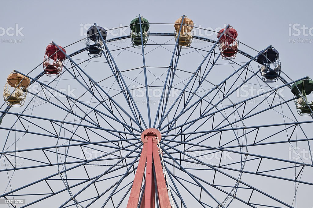 ferris wheel in vintage style royalty-free stock photo