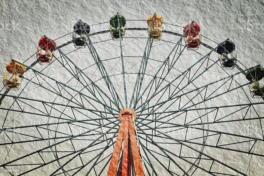 ferris wheel in vintage style royalty-free stock photo