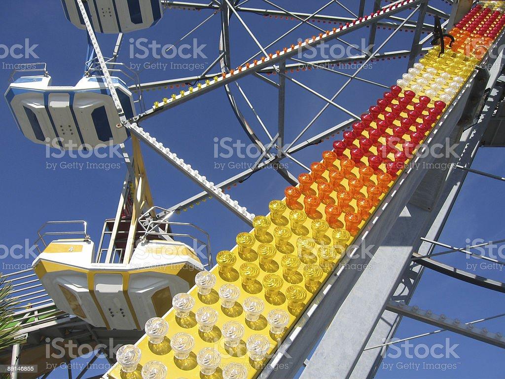 Ferris Wheel Lights stock photo