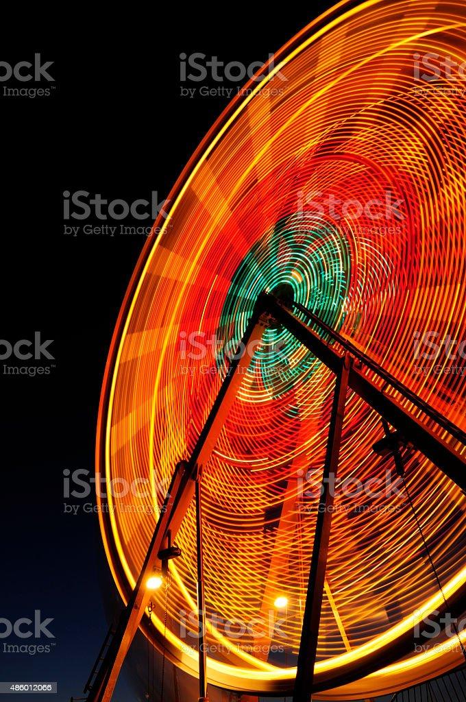 Ferris Wheel motion blur stock photo