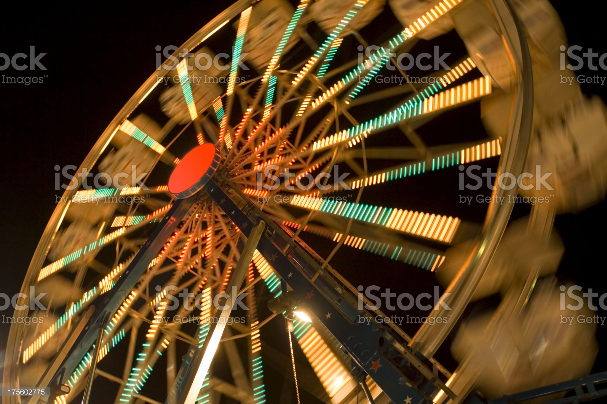 Ferris Wheel Night Scene Hz royalty-free stock photo