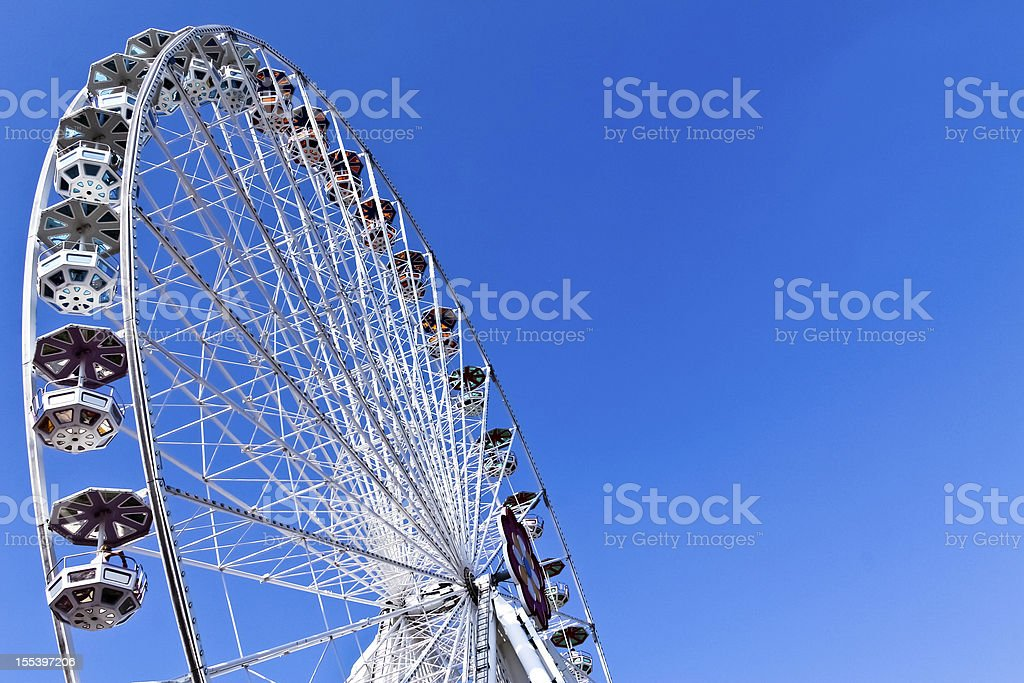 Ferris wheel on a fair royalty-free stock photo