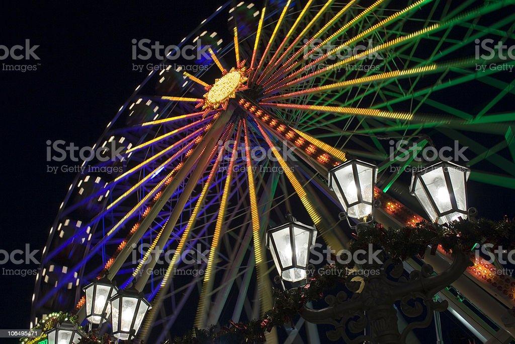 Ferris wheel on the Christmas Market. royalty-free stock photo