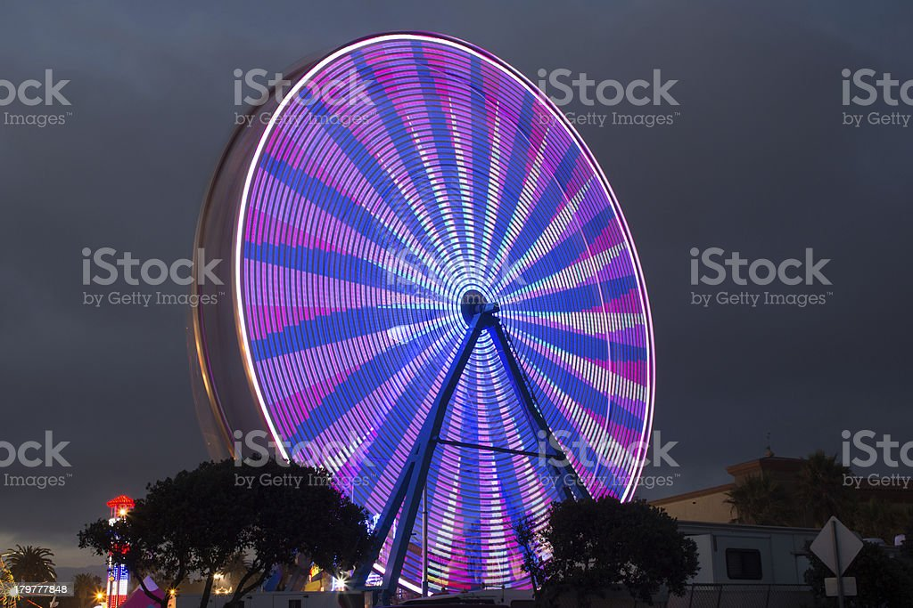 Ferris Wheel - Purple and Pink royalty-free stock photo