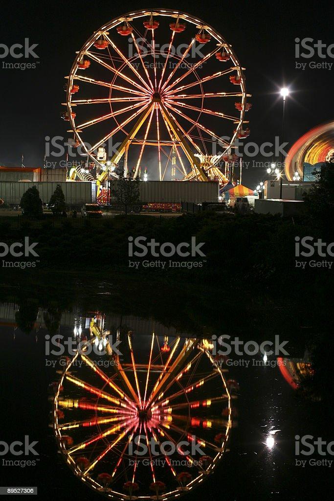 ferris wheel reflection royalty-free stock photo