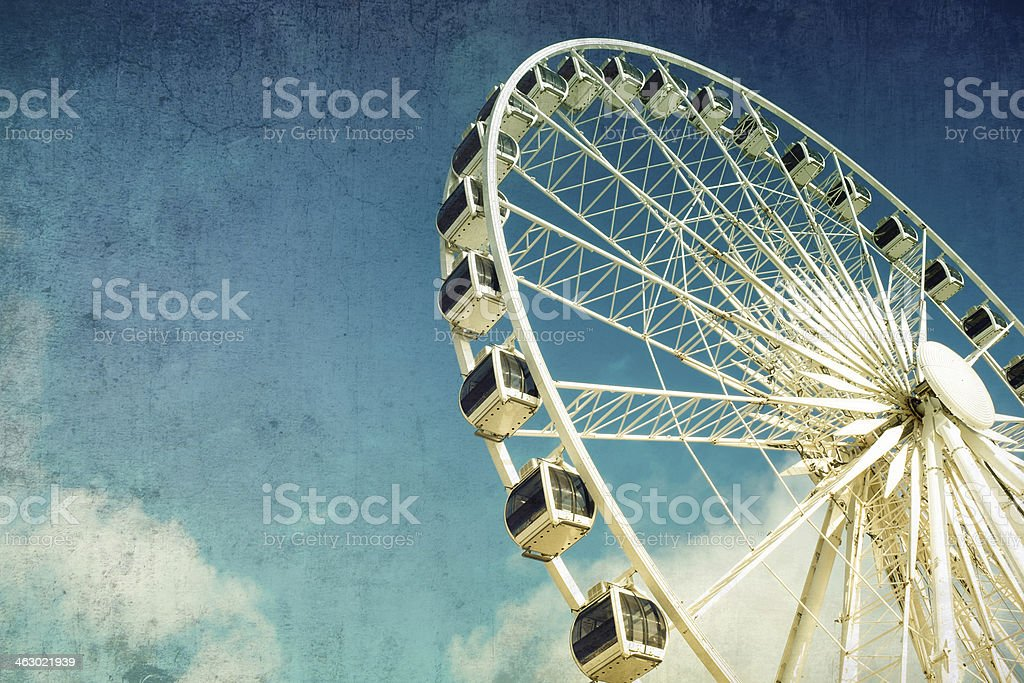 Ferris wheel retro stock photo