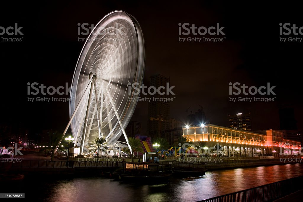Ferris Wheel Sharjah United Arab Emirates stock photo