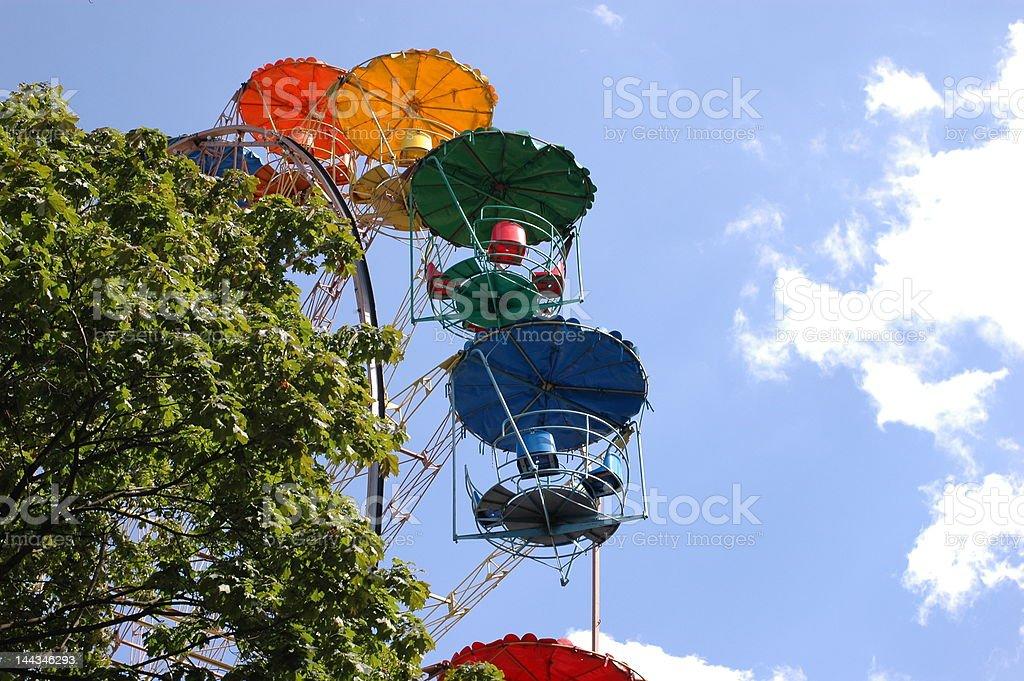 Ferris wheel, tree, sky royalty-free stock photo