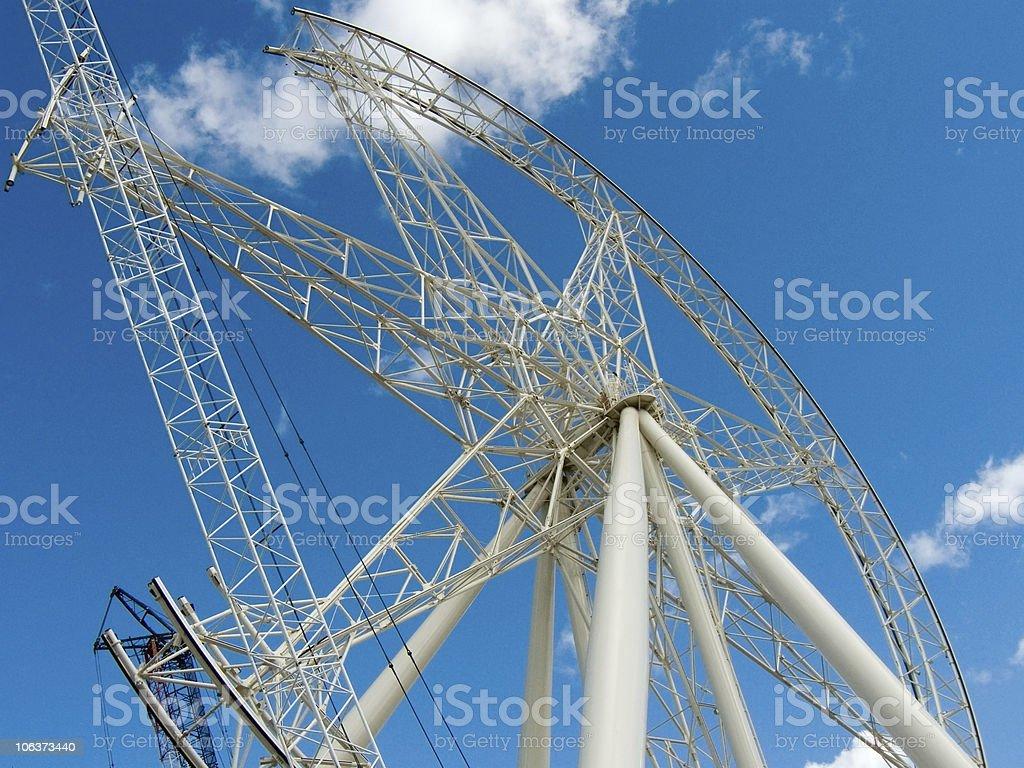Ferris Wheel Under Construction stock photo