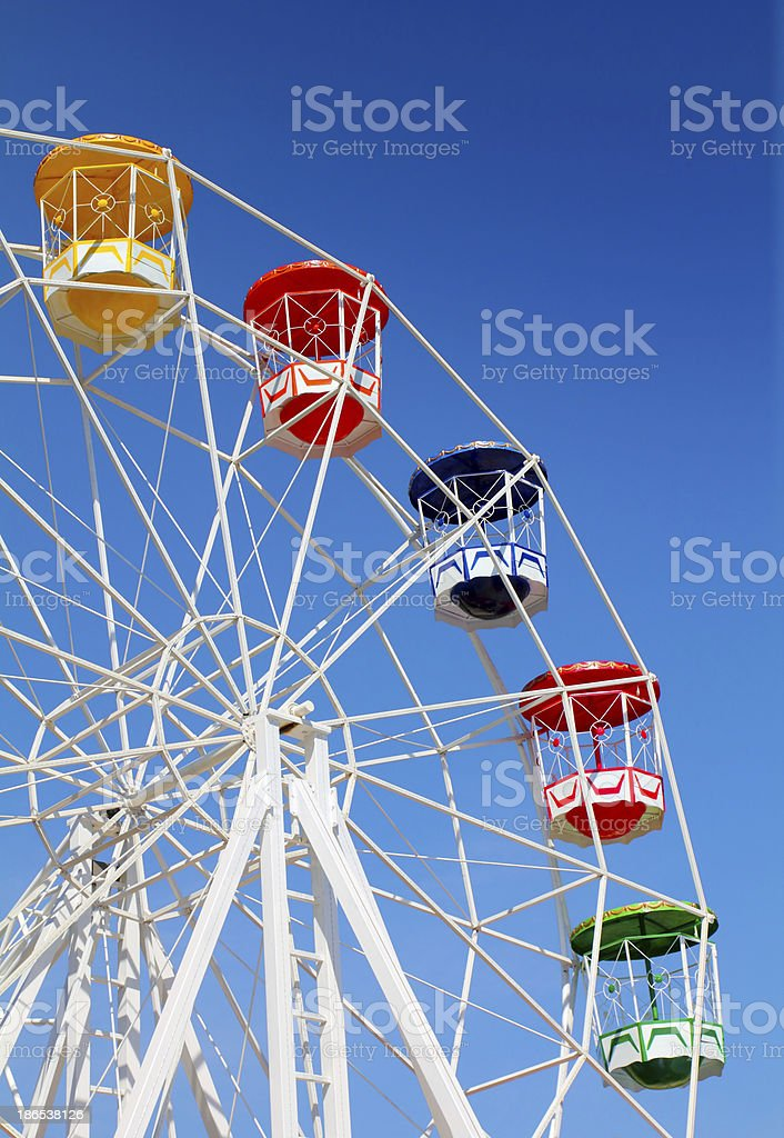 Ferris wheel with blue sky royalty-free stock photo