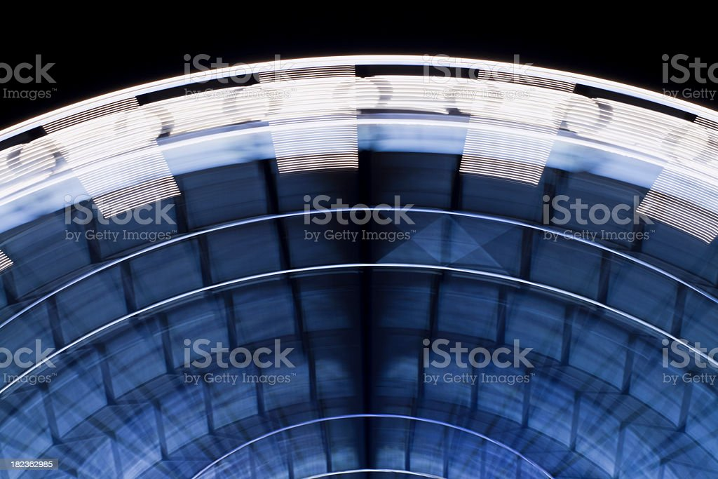 Ferris Wheel with long exposure in Paris, France royalty-free stock photo
