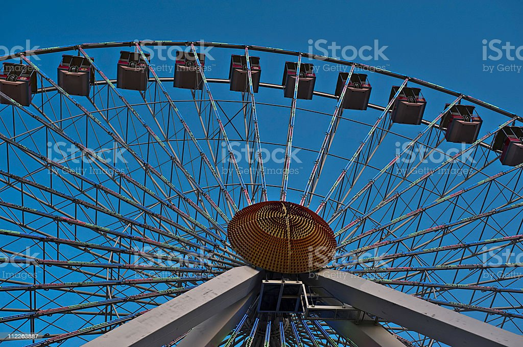 Ferris Wheel with numbers stock photo