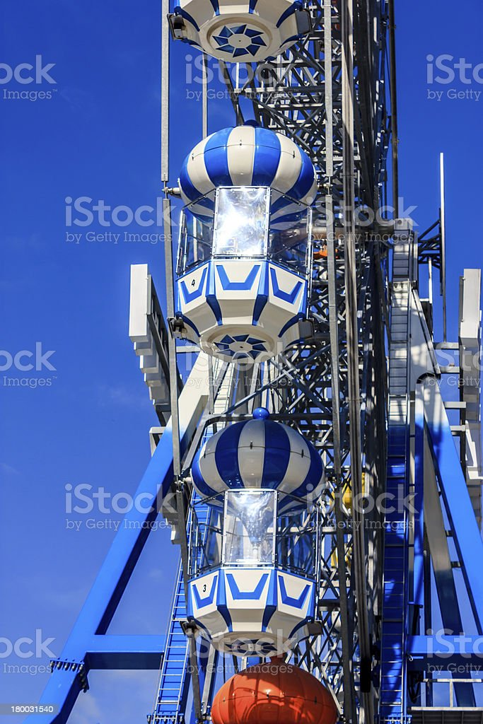 Ferris wheel with the blue sky royalty-free stock photo