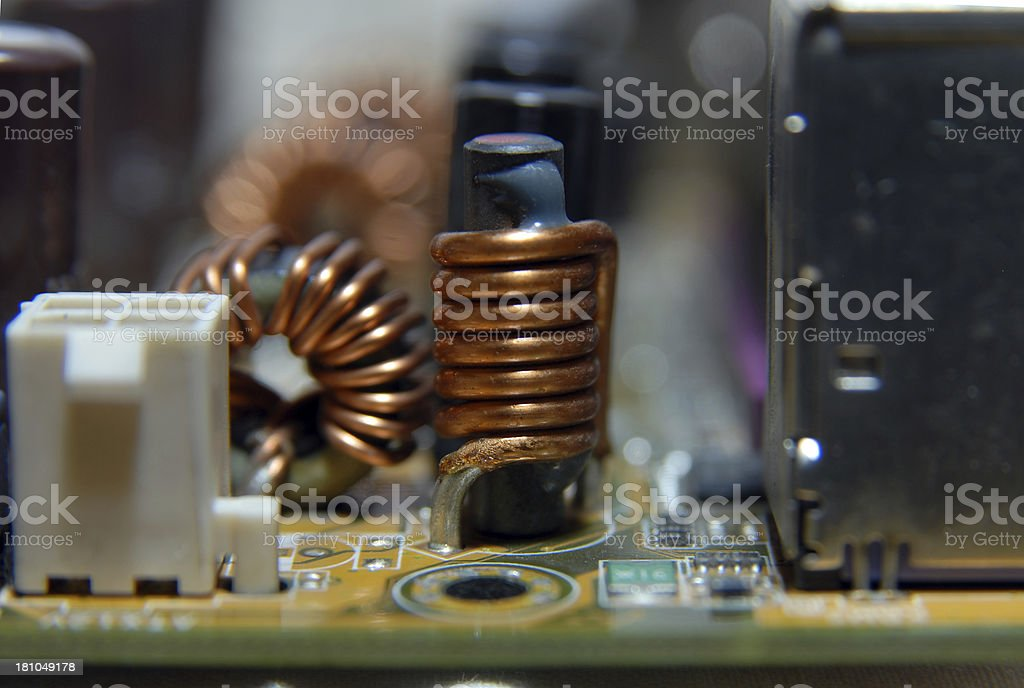 ferrite coil royalty-free stock photo
