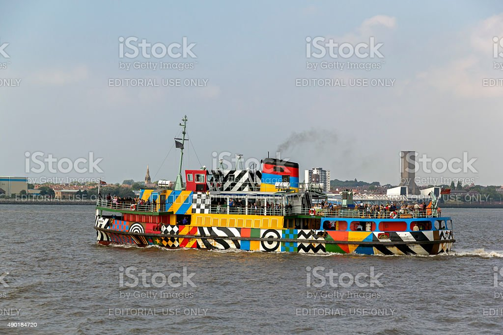Ferry Across The Mersey stock photo
