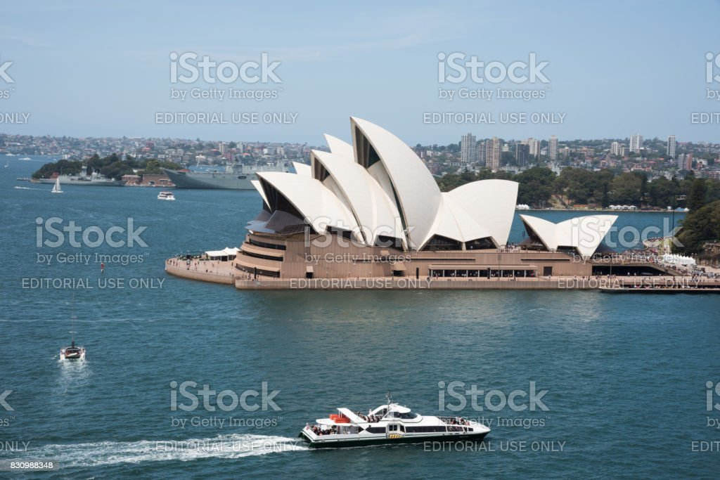 Ferry and Sydney Opera House stock photo