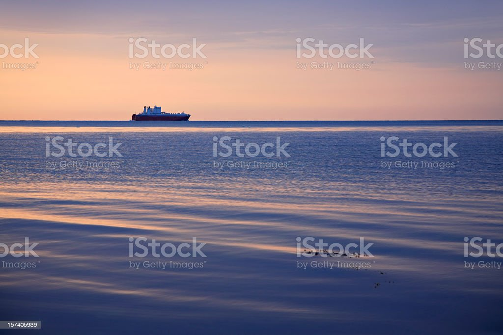 Ferry at Dawn royalty-free stock photo