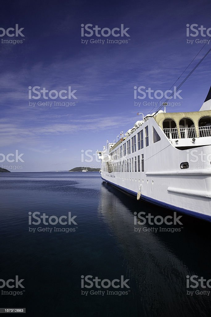 ferry at hvar royalty-free stock photo