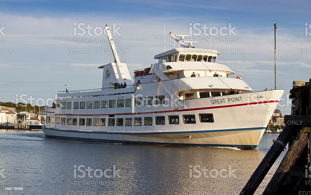 Ferry at Lewis Bay, Hyannis, Cape cod royalty-free stock photo