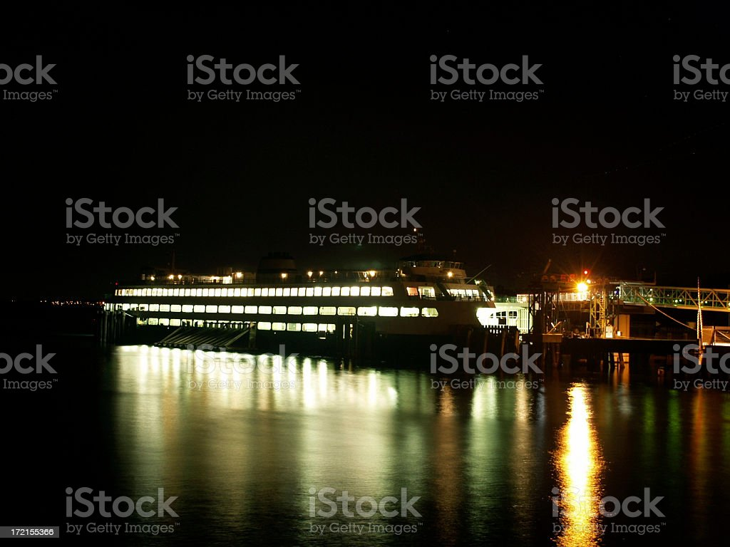 Ferry at Night royalty-free stock photo