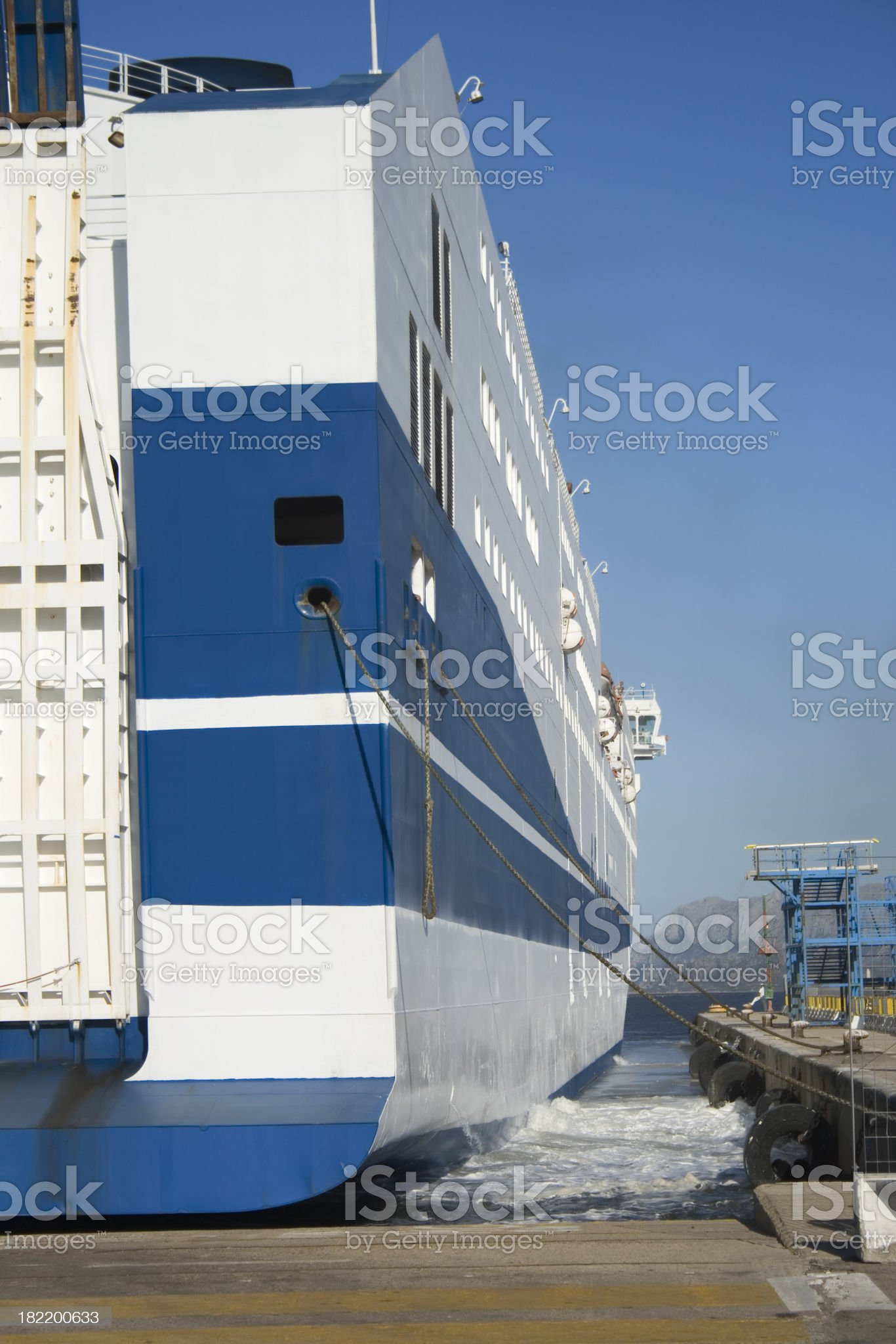 ferry at the dock royalty-free stock photo
