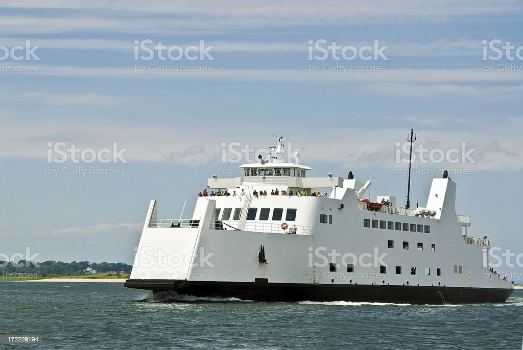 Ferry Between Long Island and Connecticut royalty-free stock photo