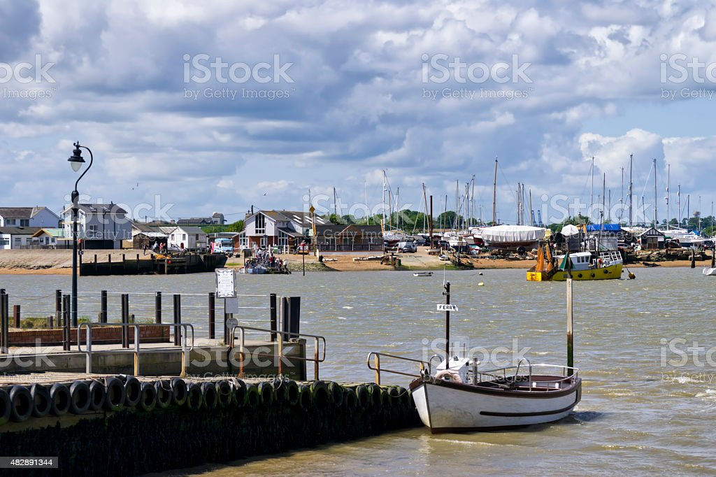 Ferry boat at Bawdsey stock photo