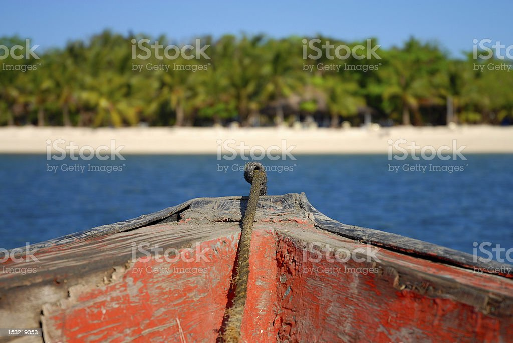Ferry boat from Sablayan to North Pandan Island, Mindoro, Philippines stock photo