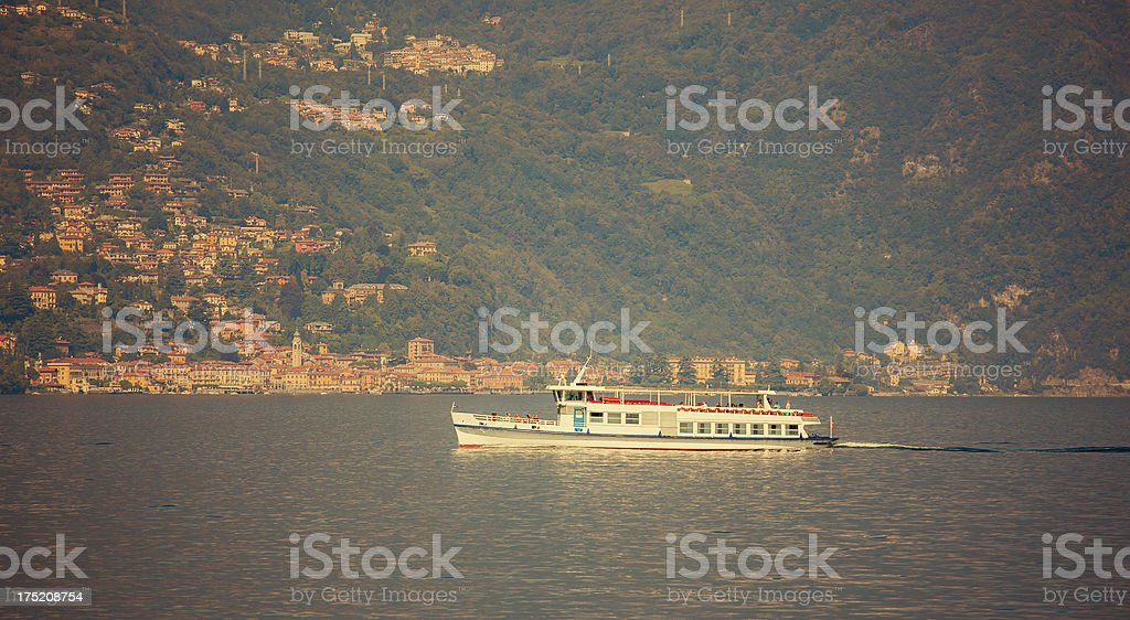 ferry boat Lake Como royalty-free stock photo