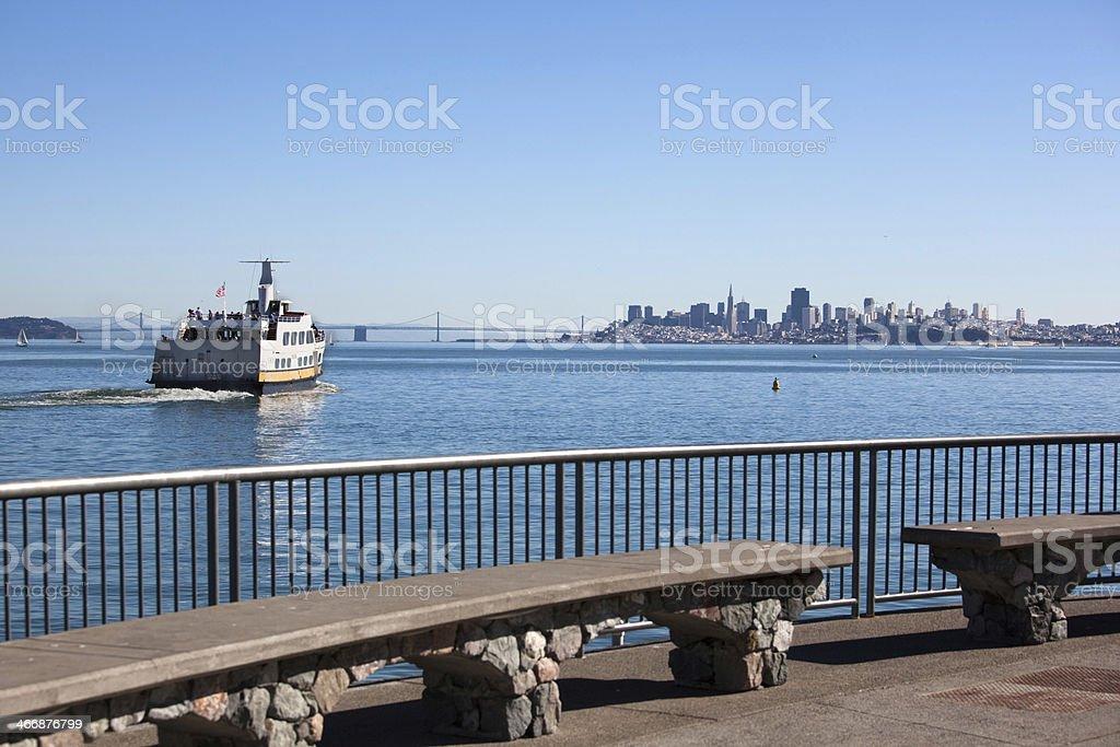 Ferry Boat To San Francisco royalty-free stock photo